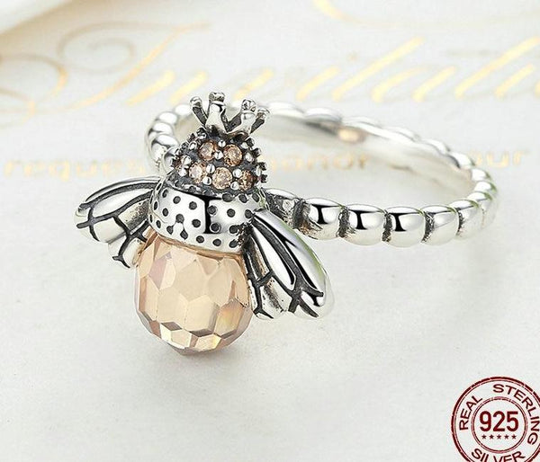 Crystal Queen Bee Ring