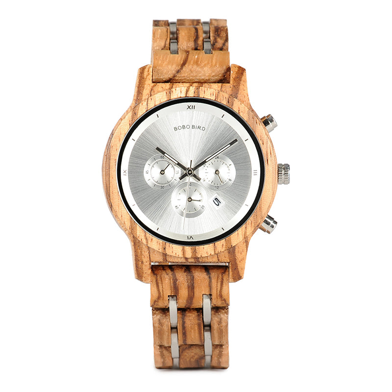 Wooden and Steel Vogue Watch- Colors Available