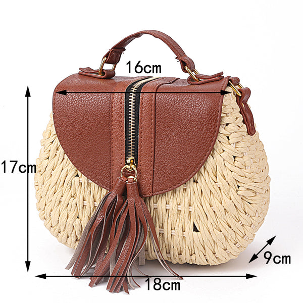 Tassel Straw Bag Size