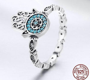 Blue Hand  Ring