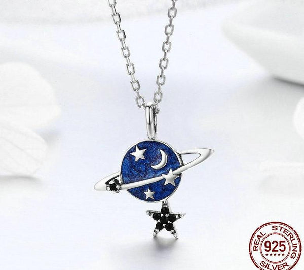 Sparkling Saturn Necklace