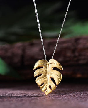 Monstera Leaves Necklace