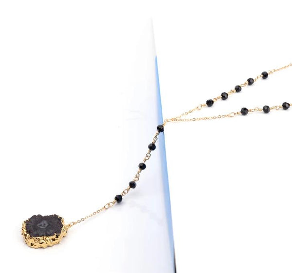 Druzy Stone Long Necklace