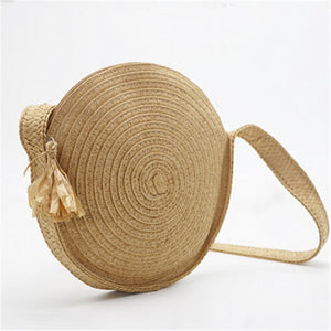 Brown Straw Tote