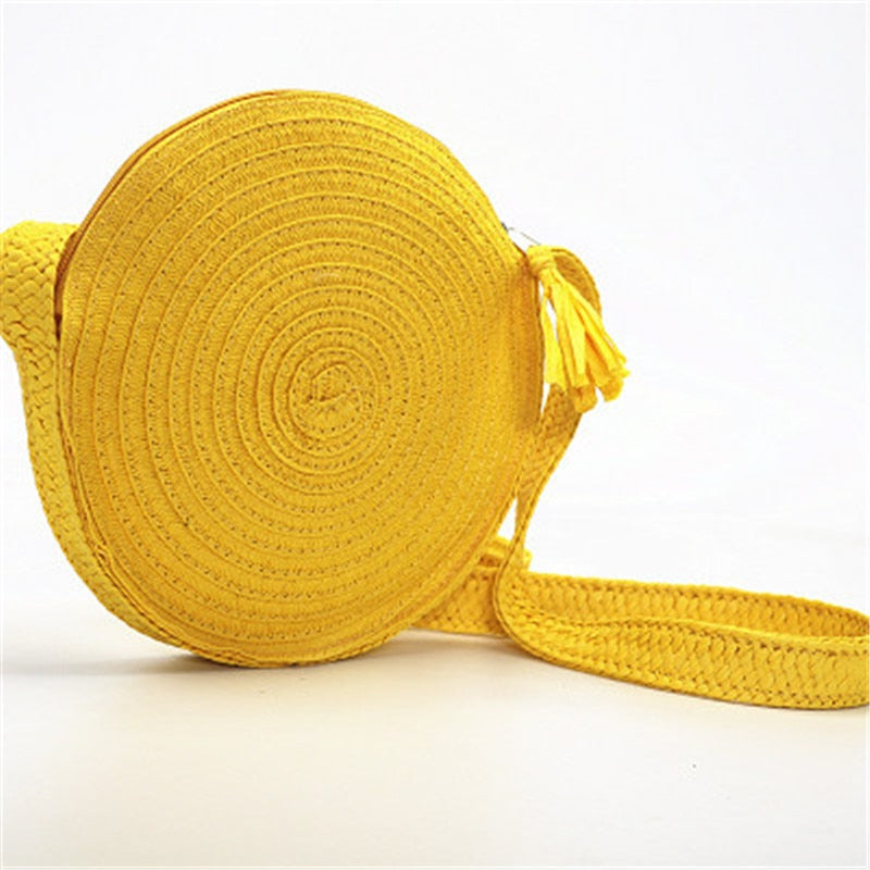 Yellow Straw Tote
