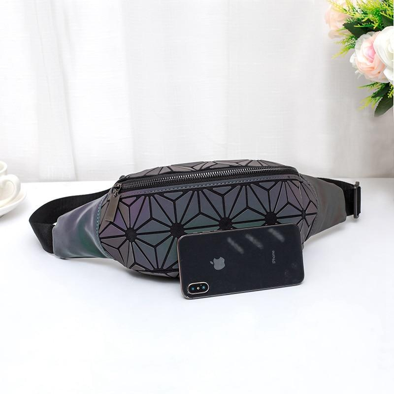Geometric Luminous Fanny Pack