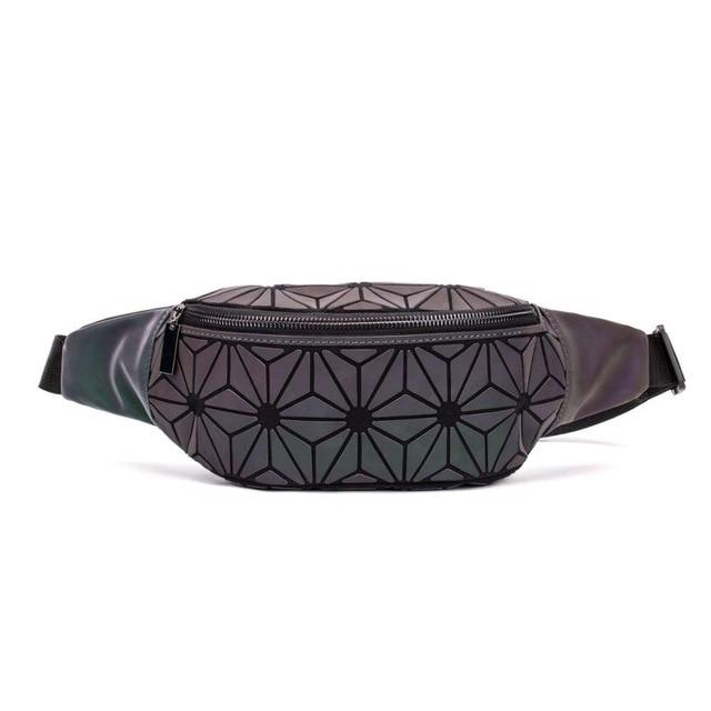 Geometric Luminous Fanny Pack Flowers