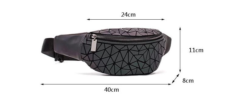 Geometric Luminous Fanny Pack Size