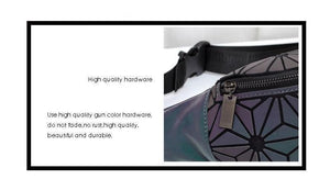 Geometric Luminous Fanny Pack Closure