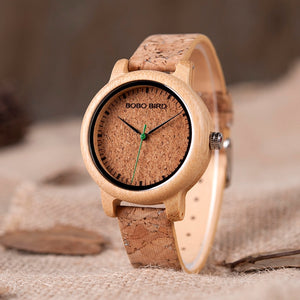 Bamboo Cork Watch