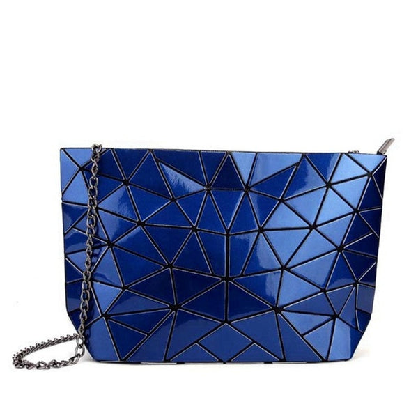 Geometric Messenger Handbag Deep Blue