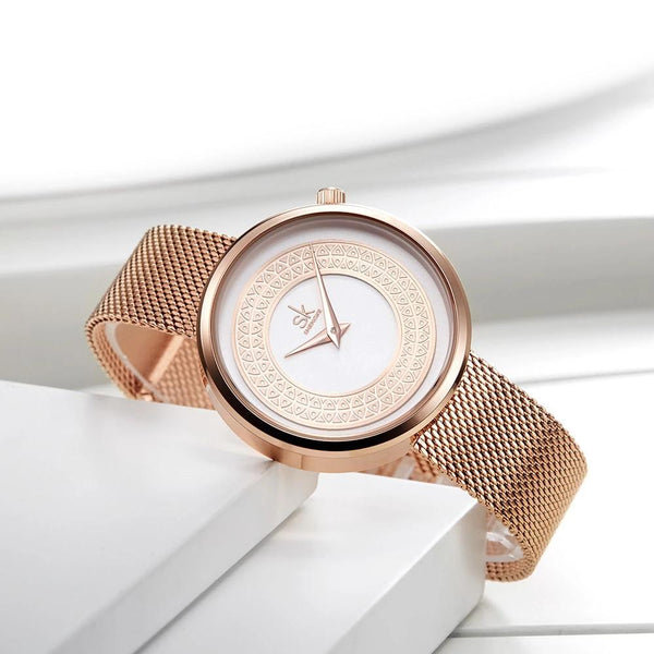 Gold Crown Stainless Steel Watch