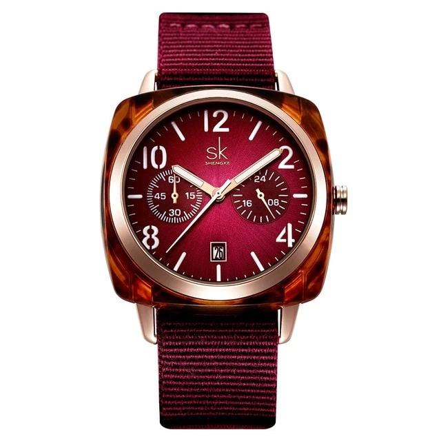 Fashion Nylon Watch-Red