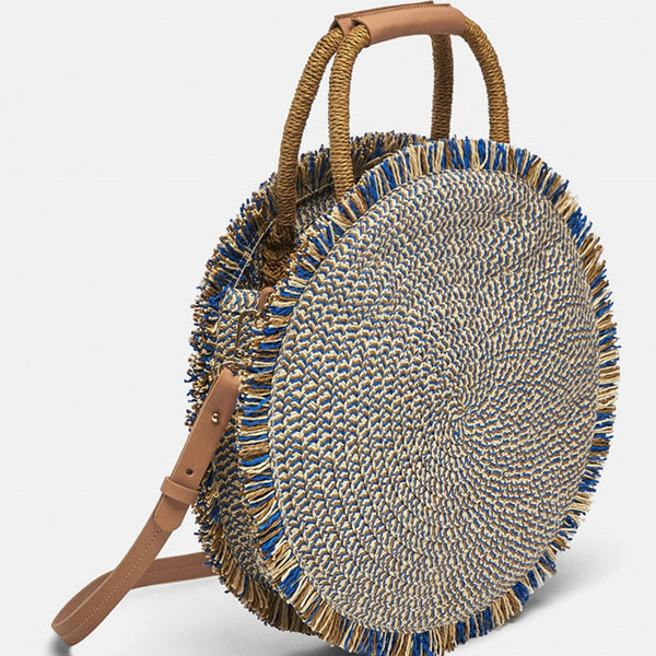 Blue/Brown Woven Bag