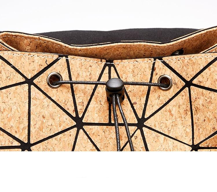 Geometric Cork Look Backpack