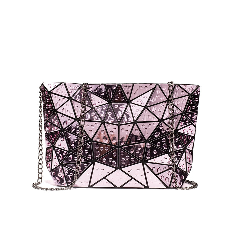 Raindrops Geometric Bag-Pink