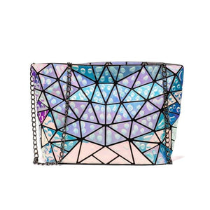 Raindrops Geometric Bag- Translucent