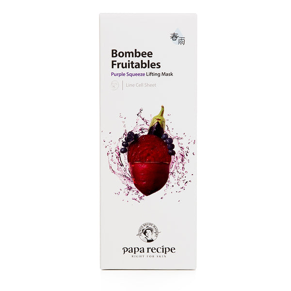 PAPA RECIPE Bombee Fruitables Purple Squeeze Lifting Mask (10 sheets)