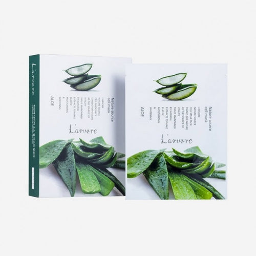LARVORE Nature Source Cell Mask Aloe (5 pack)