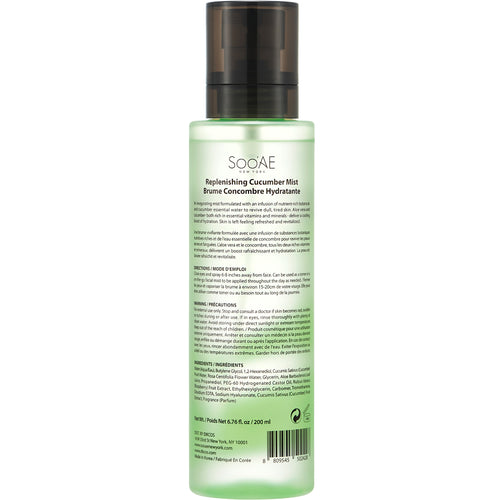SOO'AE Replenishing Cucumber Mist
