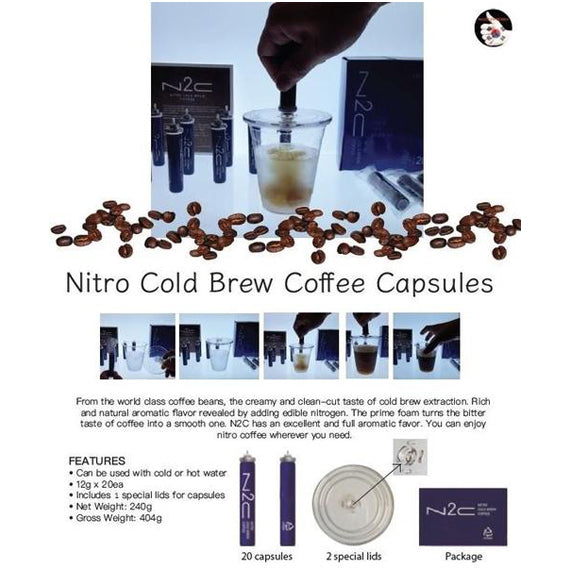 AROMAVILLE Coffee for Your Taste l Nitro Cold Brew Coffee Capsules
