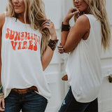 Sleeveless t shirt Sunshine Vibes Tank Tops