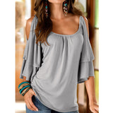 Sexy Off Shoulder Women's Elegant T Shirts