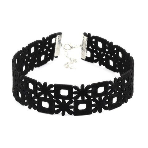 Black Goth Choker Necklace Women VelvetChoker - Awoken Women