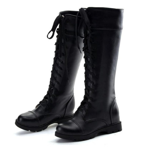 Women's Boots Lace Up Knee High Boots Flats Casual Shoes WomanKnee High Boots - Awoken Women