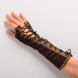Retro Women Lolita Victorian Armband Gloves Fingerless - Awoken Women
