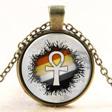 7 DESIGN OPTIONS - Grey ancient Egypt Ankh crossNecklace - Awoken Women