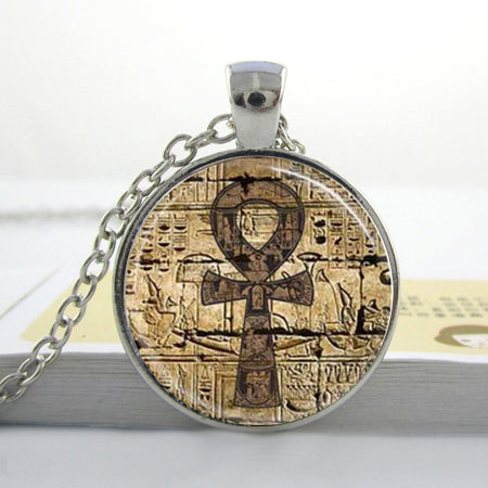 Egyptian Ankh Necklace Glass Dome Jewelry NecklaceNecklace - Awoken Women