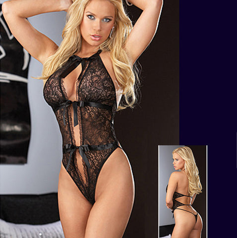 Lace lingerie Black Dress Sleepwear Nightwear UnderwearLingerie - Awoken Women