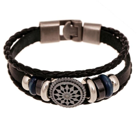 Leather Charm Wrap Bracelet Jewelry Punk StyleBracelet - Awoken Women