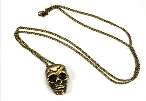 Retro Punk Skull Bronze NecklaceNecklace - Awoken Women