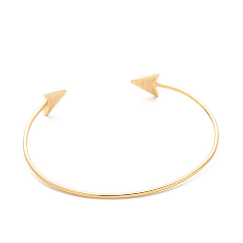 Simple Women Metal Punk Cuff Arrow Bangle Bracelet JewelryBracelet - Awoken Women