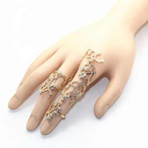 Rings Multiple Finger Stack Knuckle Band Crystal Set Womens Fashion Jewelry GDRing Set - Awoken Women
