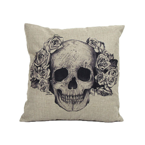 Home Sofa Bed Decoration Vintage Skull Pillow Skull CushionPillow - Awoken Women