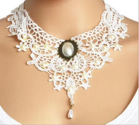 Handmade Jewerly Retro Vintage Lace Necklace Collar Gothic Choker NecklaceChoker - Awoken Women