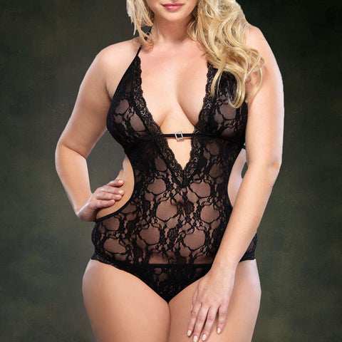 Women Sexy Lace  Temptation Underwear plus size lingerie NightdressLingerie - Awoken Women