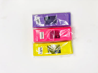 Mini bands bundle( Light Purple, Heavy pink, Yellow )