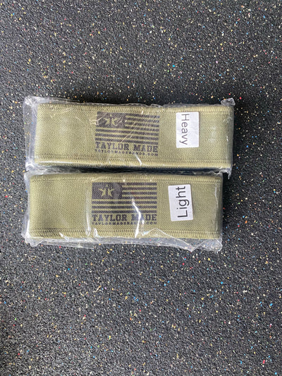 Olive mini bands -Light/ Heavy