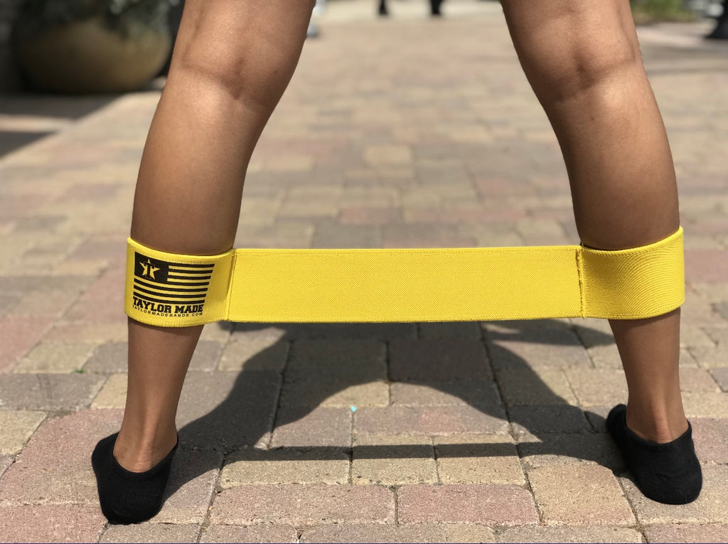 Heavy Yellow Ankle Bands