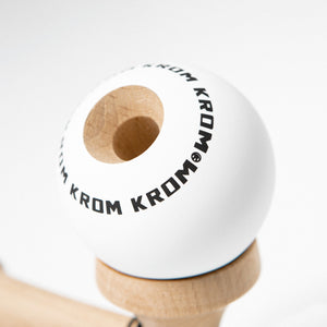 White KROM POP Kendama scope