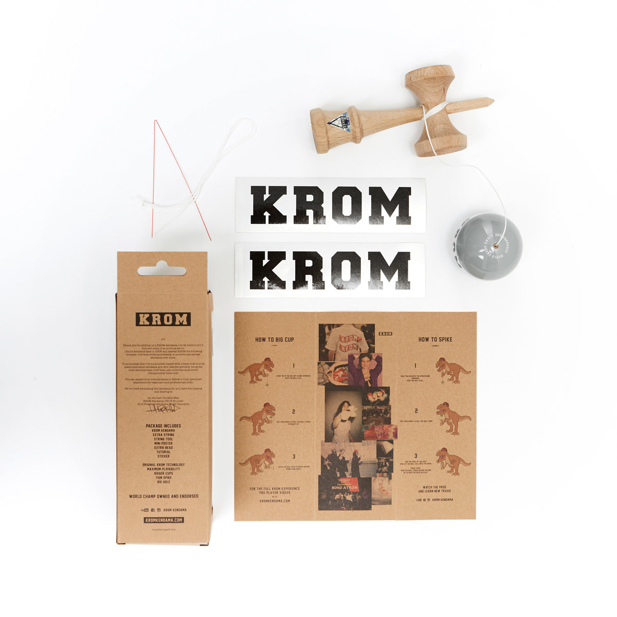 Krom Strogo W.I.P Grayhound Kendama guts