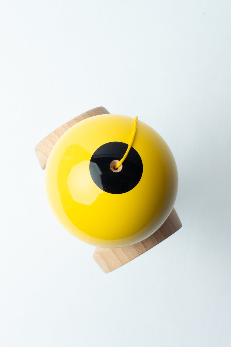 Sweets Yellow Boost Radar Kendama top down