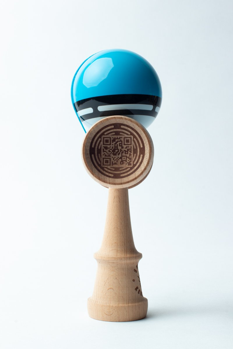 Sweets Blue Boost Radar Kendama burn