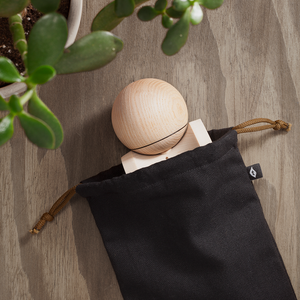 Terra Prefect Maple and Ash Kendama in custom bag