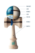 Load image into Gallery viewer, SWEETS - C. FRASER BATCH ONE: SAPPHIRE CUSHION CLEAR KENDAMA