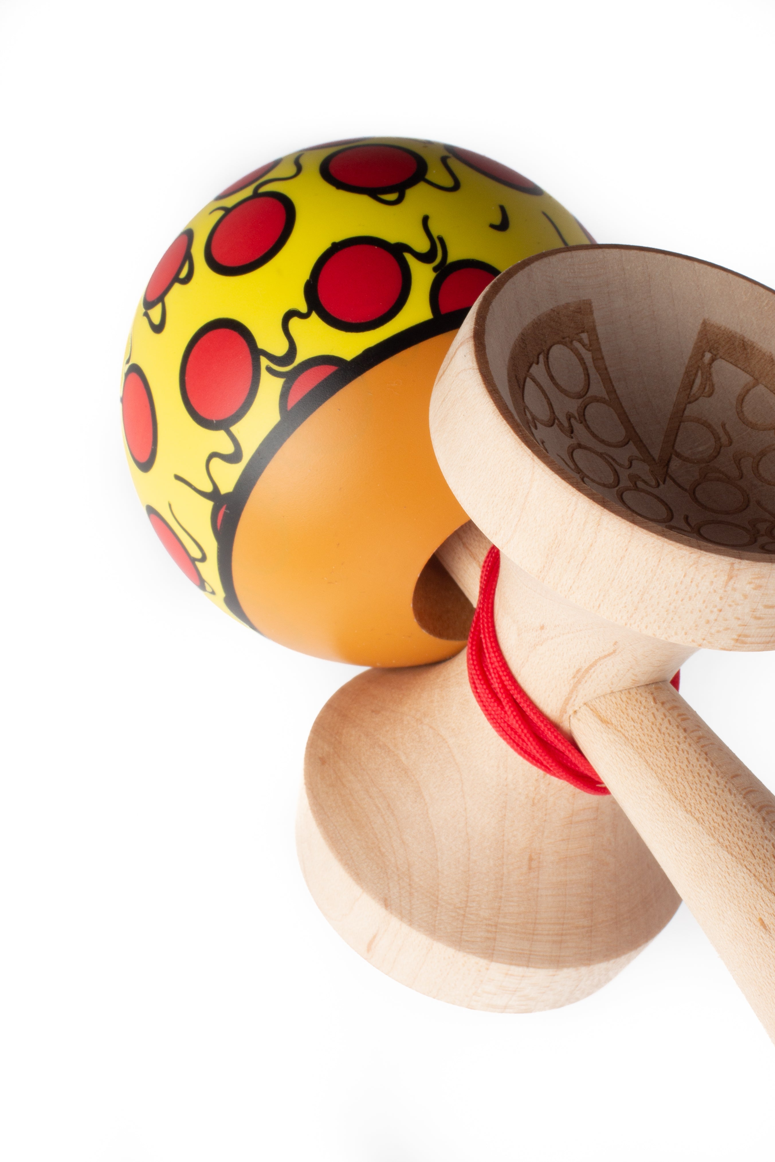 Sweets V24 Pizza Cushion Clear Kendama engraving